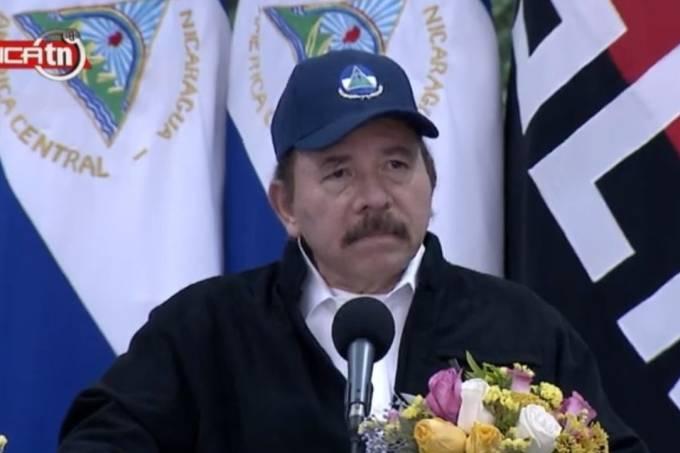 Daniel Ortega, em pronunciamento em rede nacional na Nicarágua