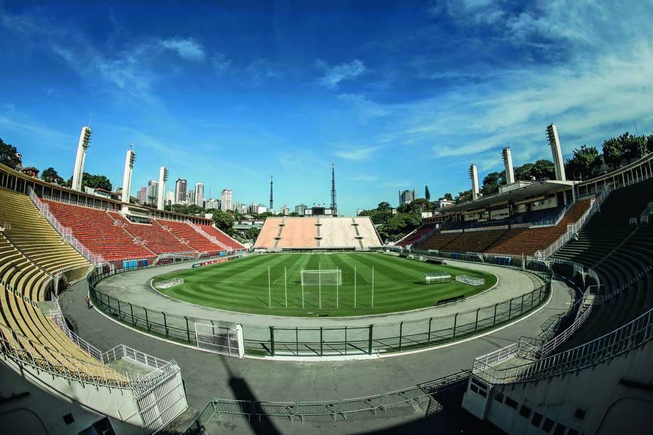 O Estádio do Pacaembu tem capacidade para 40.199 pessoas