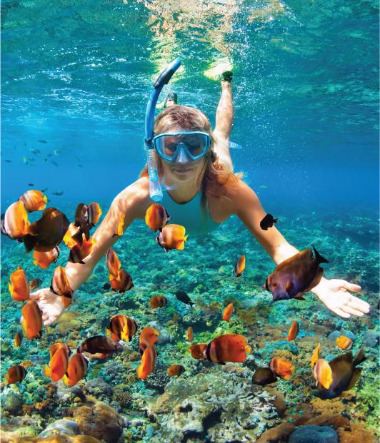 Mergulho oferecido pelo resort Cinnamon Velifushi Maldives, nas Maldivas