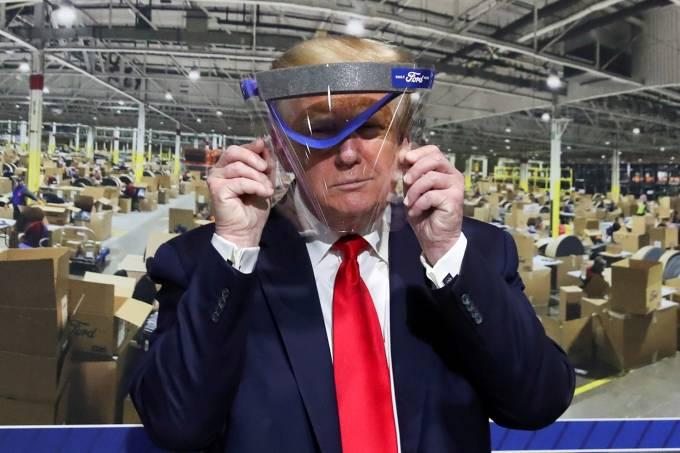 U.S. President Trump visits Ford Rawsonville Components Plant in Ypsilanti, Michigan