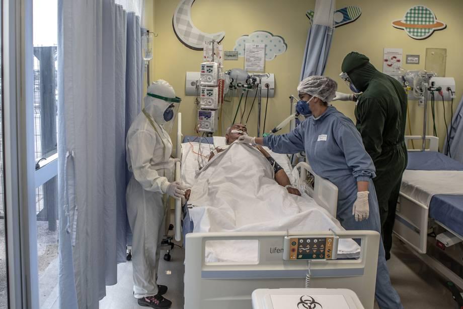 No Hospital Delphina Aziz, referência contra a Covid-19, ala pediátrica foi remodelada para atender casos de urgência
