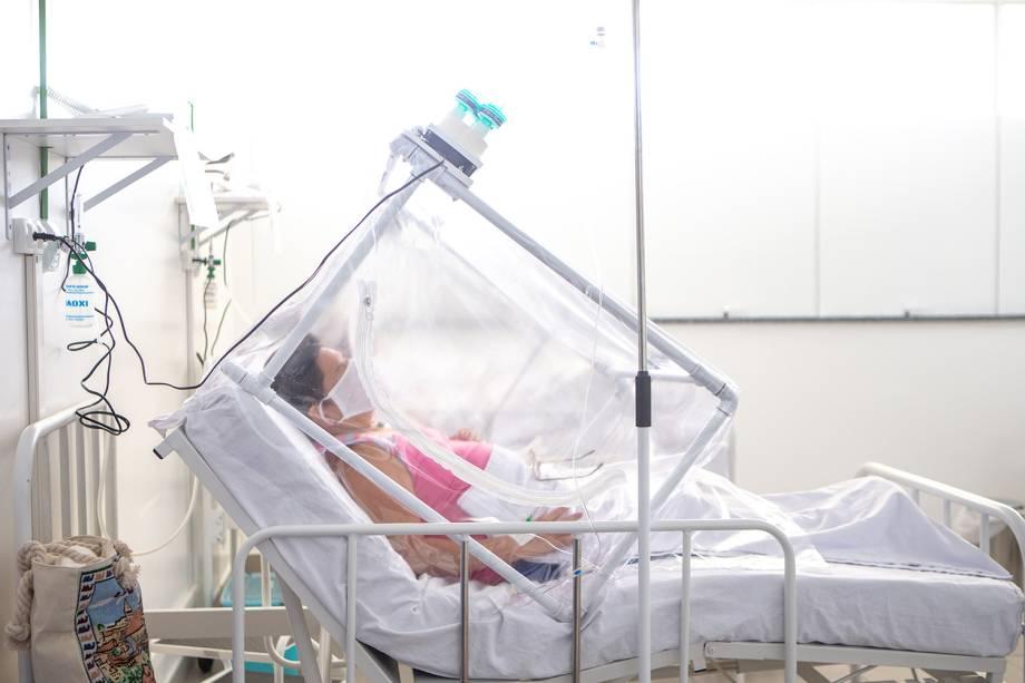 A Cápsula Vanessa permite a realização de procedimentos menos invasivos para evitar a entubação