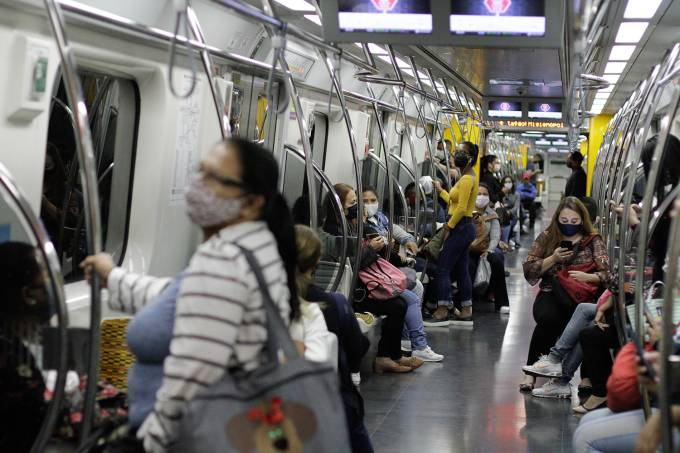 Mandatory Use Of A Mask During Transportation In Sao Paulo