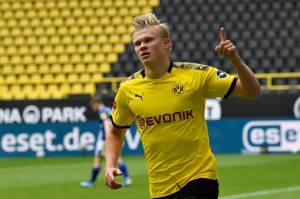 Artilheiro da Liga dos Campeões, Haaland é aposta de dias melhores do Dortmund