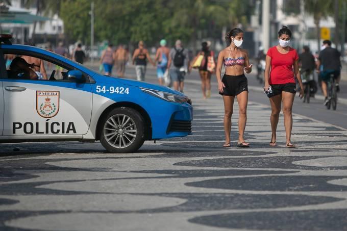 A Sunny Sunday in Copacabana Beach Amidst the Coronavirus (COVID – 19) Pandemic