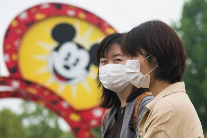 Disneyland Imposes Social Distancing Measures In Shanghai Amid The Coronavirus Pandemic
