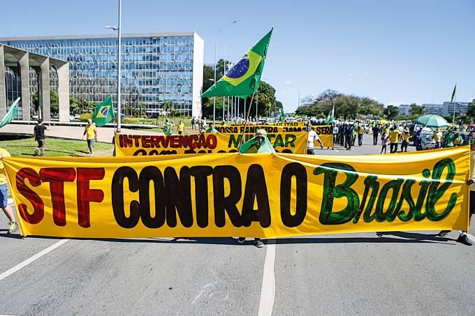 DF, 03/05/2020 – Jair Bolsonaro / Manifestação