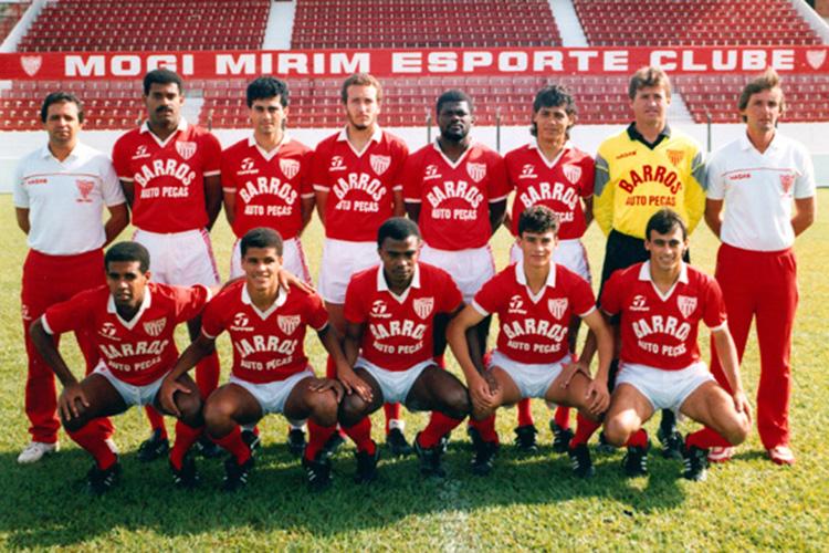 """Time do Mogi Mirim conhecido como """"Carrossel Caipira"""", que contava com Rivaldo no elenco e comandado por Vadão na temporada 1992-1993"""