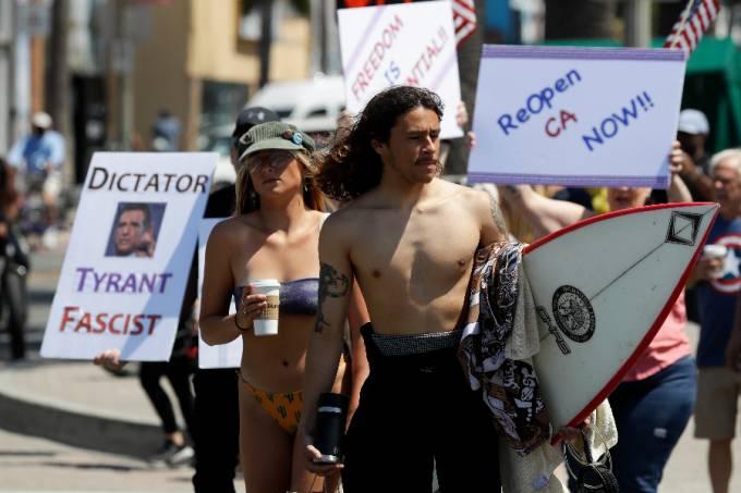 Surfistas protesto Califórnia
