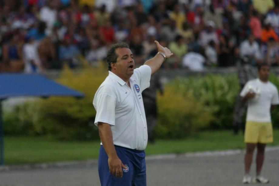 Vadão, técnico do Bahia, durante jogo contra o Náutico, pela série B do Campeonato Brasileiro, no estádio da Fonte Nova, em 2005