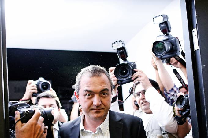 FILE PHOTO: Brazil's billionaire businessman Joesley Batista is pictured at the Brasilia international airport, after giving testimony in Brasilia