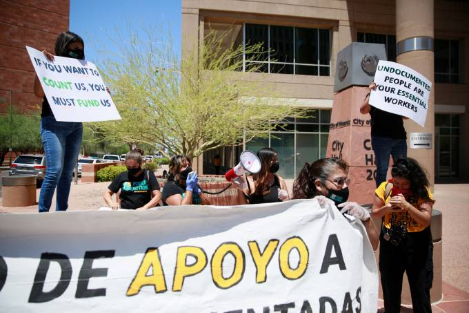 Protestos Estados Unidos Imigração Coronavírus