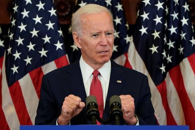 Democratic U.S. presidential candidate Joe Biden speaks at event in Philadelphia