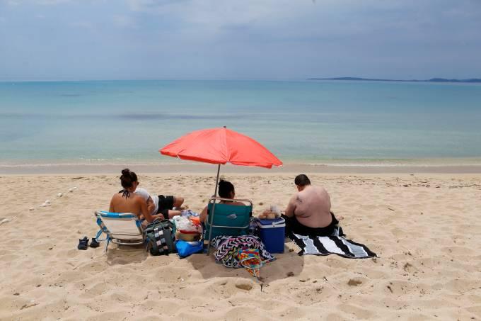 Coronavírus Espanha Praia Turismo