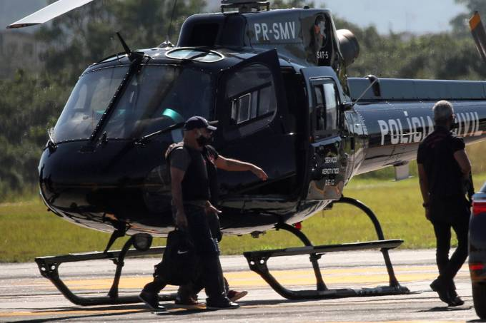 Fabricio Queiroz arrives at Jacarepagua airport after he was arrested, in Rio de Janeiro