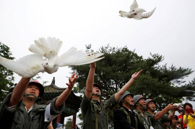 Ceremony commemorating the 70th anniversary of the Korean War in Cheorwon