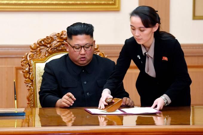 Kim Jong-un e Kim Yo-jong