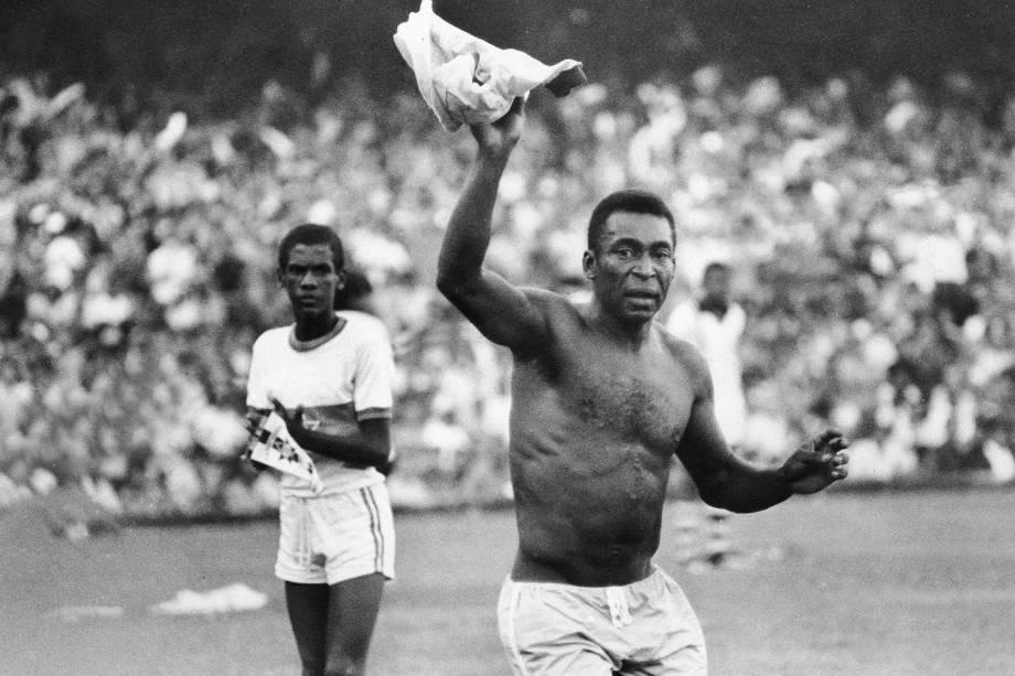 Despedida de Pelé da Seleção Brasileira, no jogo contra a Iugoslávia, em 1971