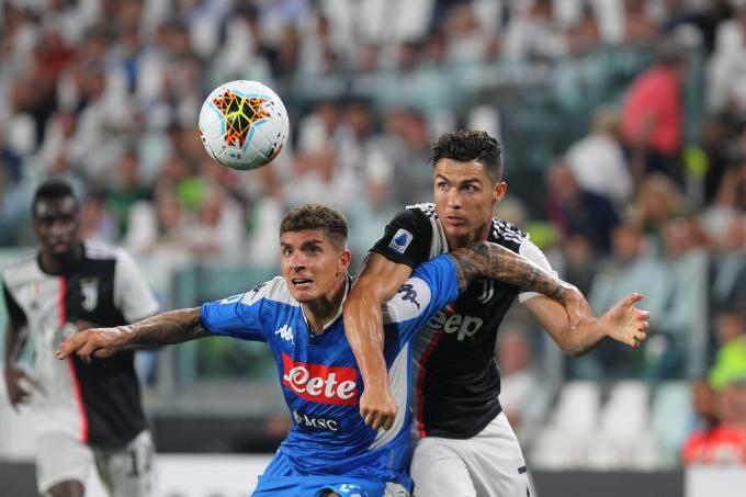 Cristiano Ronaldo, em Juventus x Napoli