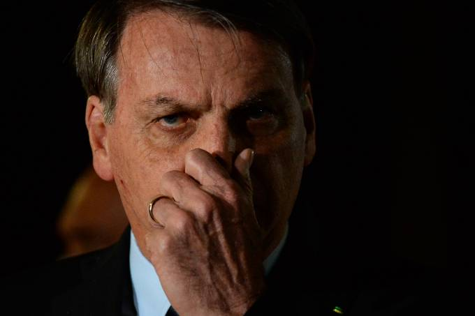 Bolsonaro Speaks with his Supporters and the Press in Front of Palacio da Alvorada Amidst the Coronavirus (COVID – 19) Pandemic