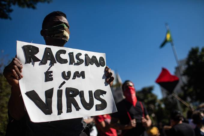Anti Bolsonaro Protesters Fill The Streets Of Sao Paulo Amid COVID-19 Pandemic