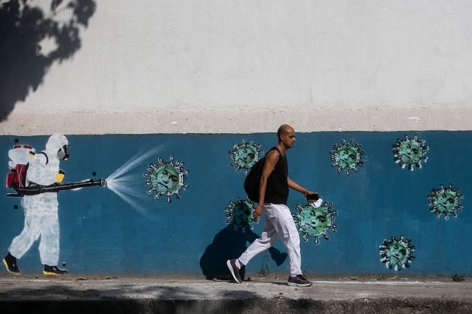Graffiti Art Around the City of Rio de Janeiro Amidst the Coronavirus (COVID – 19) Pandemic