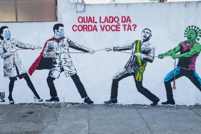 Graffiti Art Around the City of Sao Paulo Amidst the Coronavirus (COVID – 19) Pandemic