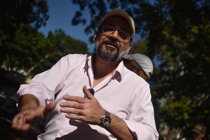 Brazil's Education Minister Greets Supporters Of Brazil's President