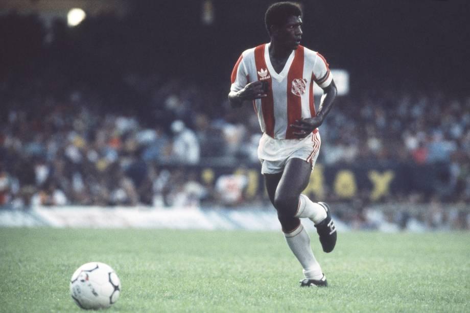 Marinho durante jogo do Bangu pelo Campeonato Carioca de 1985