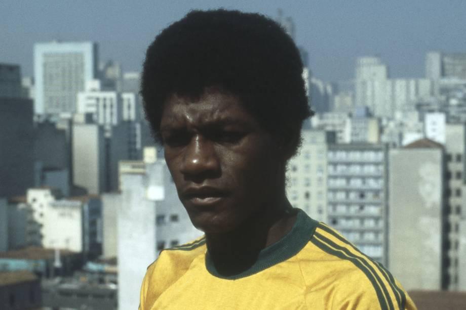 Marinho com a camisa da seleção brasileira, em 1980