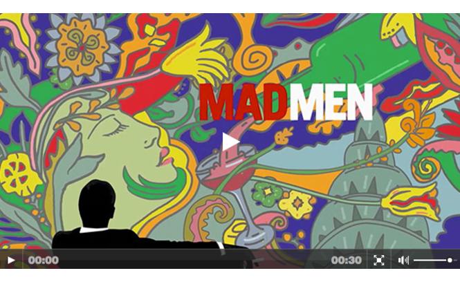 Arte da abertura do último episódio da série 'Mad Men' criado por Milton Glaser