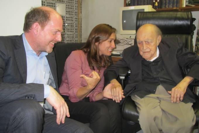 Sr. Koehne, Sra Farias e Sr. Niemeyer