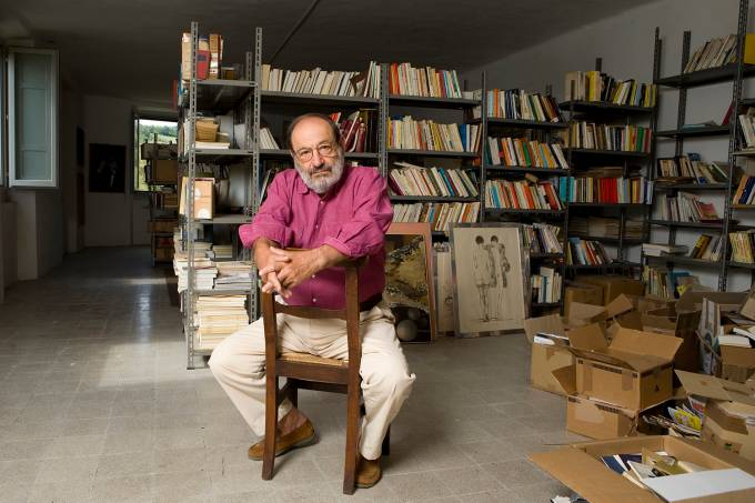 Umberto Eco Internationally Known Italian Semiologist Writer Philosopher Essayist And Professor