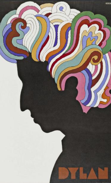 Icônico cartaz do álbum 'Bob Dylan's Greatest Hits', de 1967, criado por Milton Glaser