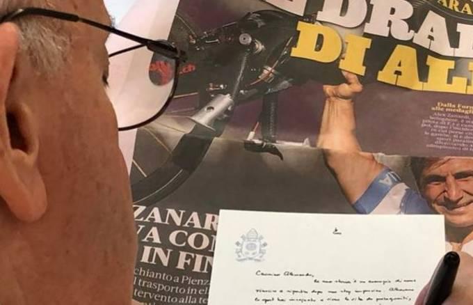 Papa Francisco escreveu carta a Alex Zanardi a pedido de jornal italiano