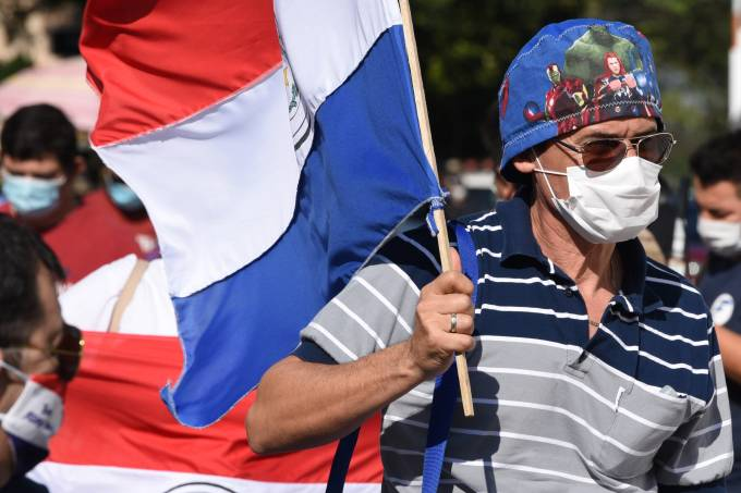 PARAGUAY-HEALTH-VIRUS-PROTEST
