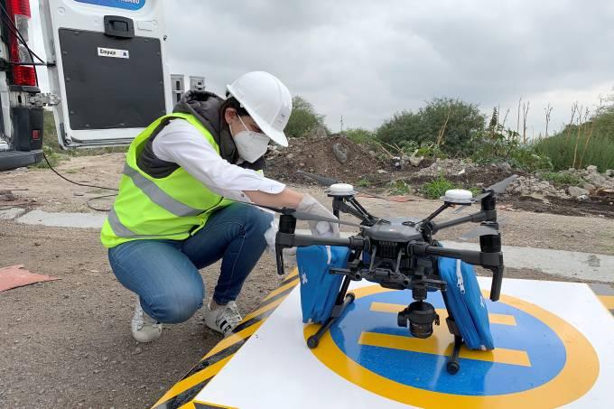 México Coronavírus EPI drones