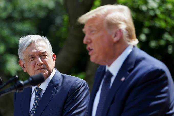 U.S. President Trump holds signing ceremony with Mexico's President Lopez Obrador at the White House in Washington