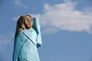 Statue of Melania Trump is set on fire in Slovenia