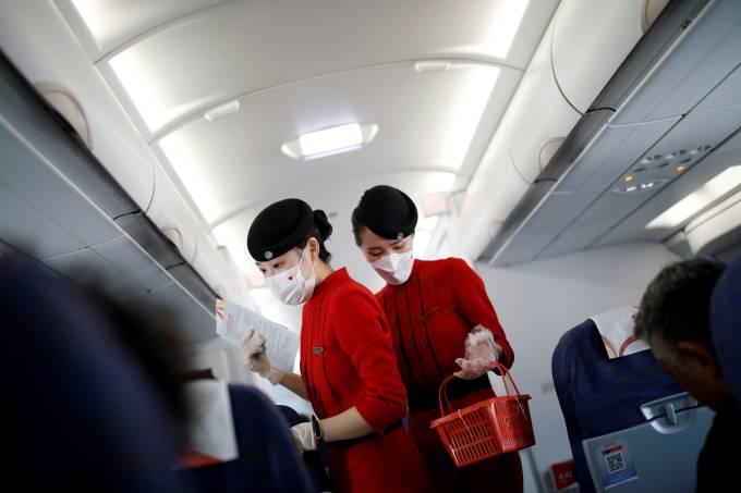China Avião Voo Coronavírus