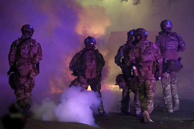 Agentes federais de segurança em Portland