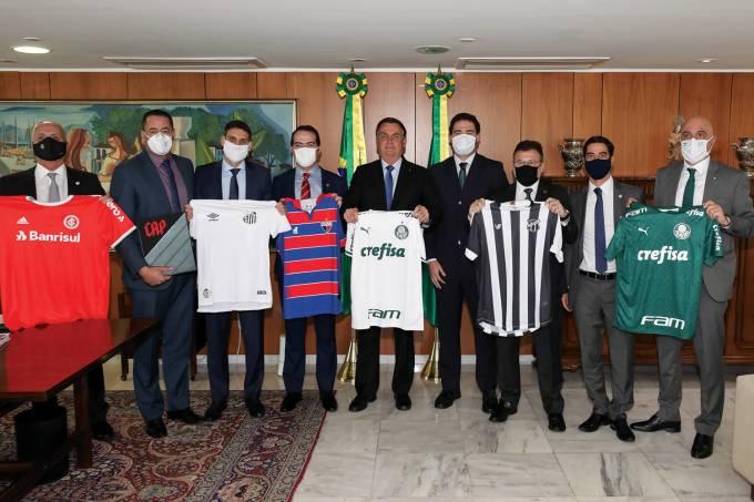 30/06/2020 Encontro com Presidente do Palmeiras, Maurício Galio