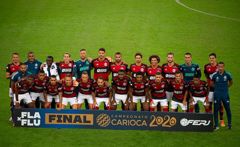 Time do Flamengo na decisão do Campeonato Carioca 2020
