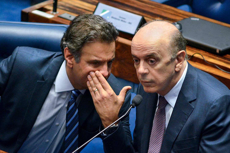 NA MIRA -Aécio e Serra: os ex-presidenciáveis viraram réus na Justiça Federal -