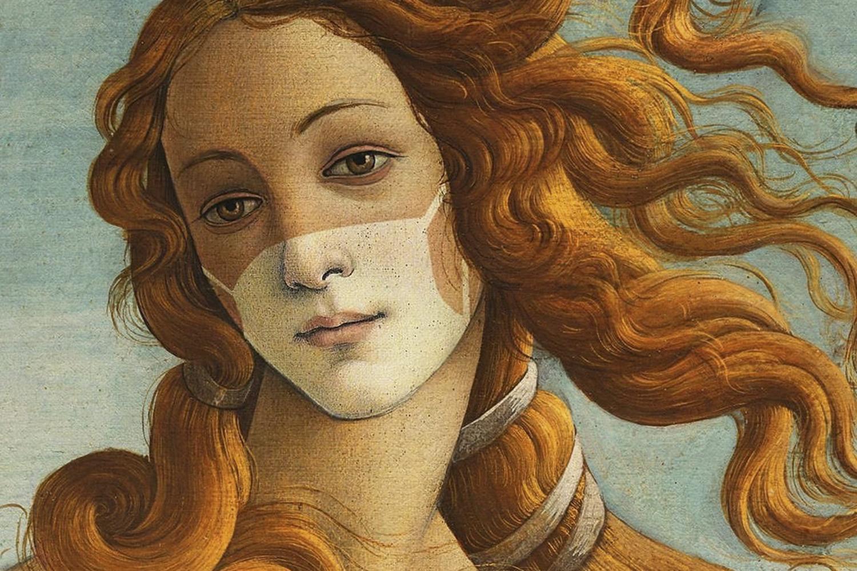 VÊNUS, de Botticelli: ela não escapou do bronzeado da Covid-19.