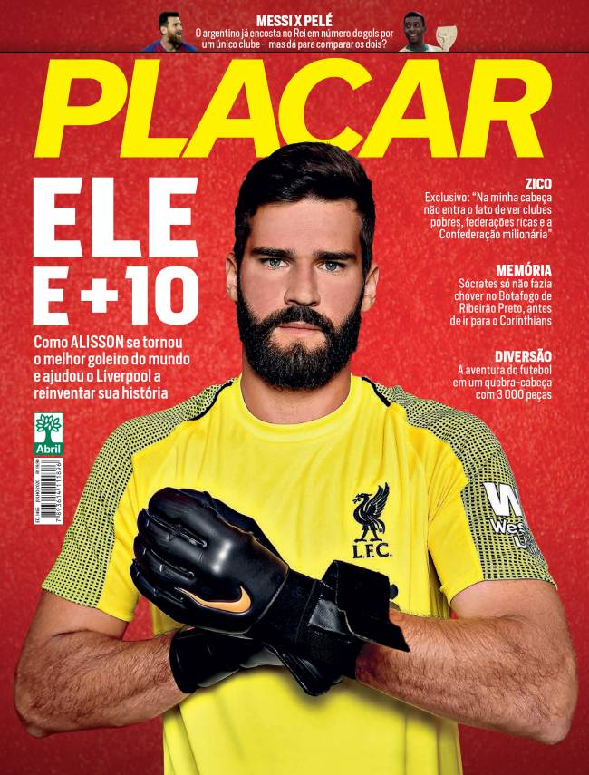 Capa da Revista Placar da edição de Julho de 2020