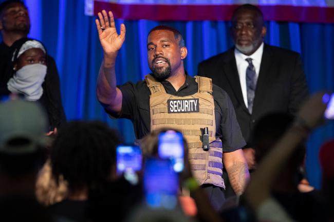 Agora vai: Kanye West participa de primeiro comício como candidato a Presidente dos Estados Unidos