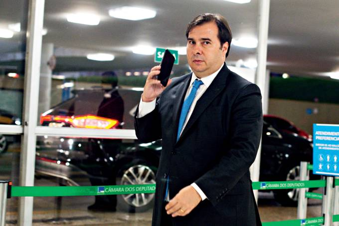 President of the House of Representatives Rodrigo Maia Arrives at the National Congress