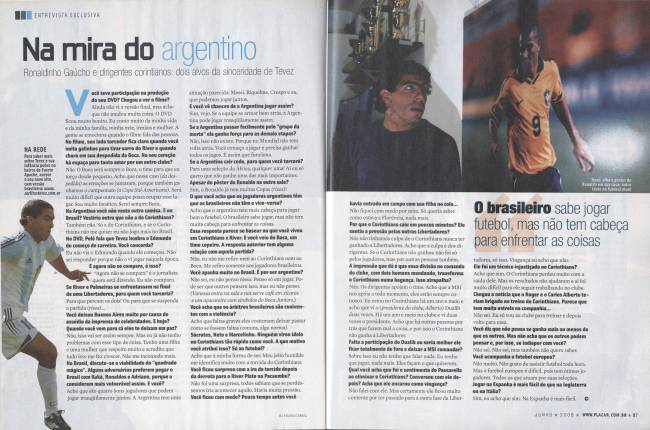 Reportagem de PLACAR de junho de 2006, na casa de Carlos Tevez
