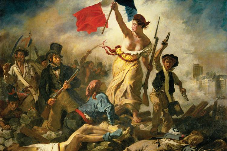 TROCA -Tela de Delacroix sobre a Revolução Francesa: a riqueza dos nobres foi para a burguesia.